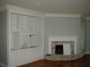 Built-In Shelving, Fireplace Mantel