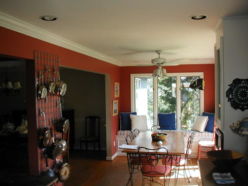 Interior Painting, Kitchen (Red)