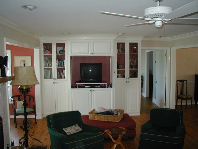 Living Room with Built in Shelving