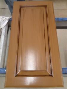Cabinet Doors - Chocolate Glaze over Toffee Paint