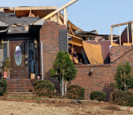 tornado damaged brick house