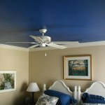blue ceiling in bedroom